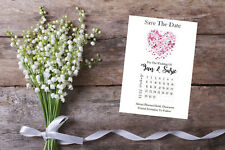 Personalised Save The Date Cards X 10 Wedding Calendar Sd426