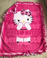 Hello Kitty Tied Fleece Blanket