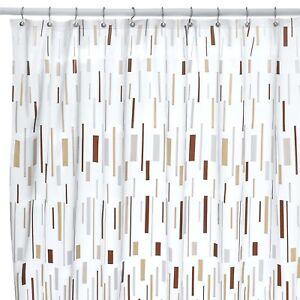 Bars Beige Shower Curtain