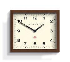 NEWGATE CLOCKS Mr Davies Rectangular Wooden Analogue Wall Clock Modern 30cm