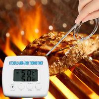 Thermomètre de Cuisson-Cuisine-BBQ-Ecran Digital-Numérique-Sonde-barbecue