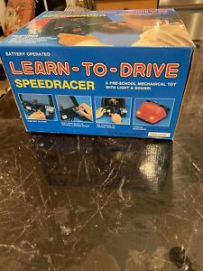 LEARN TO DRIVE SPEEDRACER PRE SCHOOL MECHANICAL TOY W/LIGHT & SOUND NIB