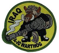 IRAQ A-10 WARTHOG PATCH OIF VETERAN IRAQI FREEDOM GAU GUN USAF AIR FORCE