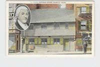 PPC POSTCARD MASSACHUSETTS BOSTON PAUL REVERE HOME EXTERIOR STREET VIEW