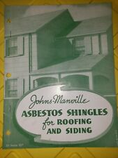 Johns manville asbestos Shingles For Roofing And Siding