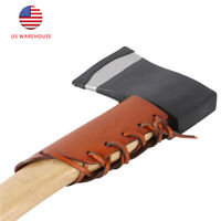 Tourbon Tan Leather Axe Collar Guard Axe Handle Protector Cover Outdoor Gear US