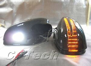Fits Mercedes W216 CL-Class 07~10 3K CARBON FIBER Arrow LED Side Mirror Cover