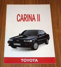 dépliant TOYOTA Carina 1600 ST série spéciale la perle noire J.4051