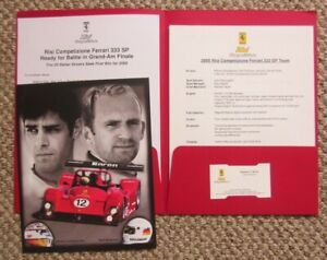 vintage IMSA/Grand Am media kit Risi Competizione Ferrari 333 SP