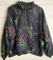 Vintage Sunterra Women's 80's/90's Jogging Windbreaker Track suit Jacket  Size X