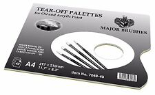 tear off palettes for oil and acrylic paints x 40 sheets a4 297x210 major brush