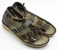 NAOT ANKLE STRAP SANDALS SHOES SIZE 41 EU 10 -10.5 US BROWN LEATHER WOMENS