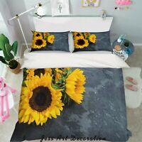 3D Sunflower Soil Quilt Cover Duvet Cover Comforter Cover Single 45