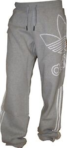 Adidas Herren Jogginghose Fleece Trainingshose Originals Sporthose Grau S