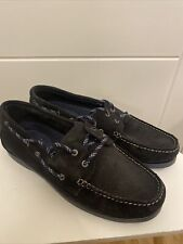 BNWT Ask The Missus 100% Suede Leather Boat deck Shoes Size 9 EU43 New navy blue