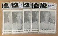 VINTAGE 1961 KANSAS CITY ATHLETICS A'S PICTURE PACKS LOT OF 5 by JAY PUBLISHING