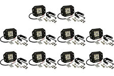 "10x 5"" 24 W Watt LED Flush Mount FLOOD Light CREE Off Road Driving Fog"