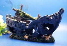 Aquarium Decoration Lost Cruise ship  For fish Tank Resin Ornaments AK--21-2