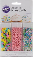 Pastel Sprinkle Set 3 types from Wilton #2081 - NEW