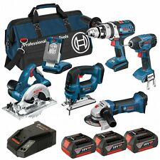 BOSCH BAG+6RS 18V 6 PIECE CORDLESS KIT 3 X 4.0AH COOLPACK 0615990G8J BRAND NEW