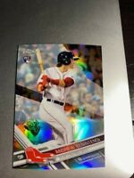 ANDREW BENINTENDI ~ 2017 Topps Chrome REFRACTOR Rookie Card RC # 100 ~ RED SOX