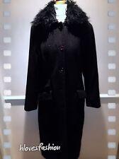❄️️DEBENHAMS Black WOOL Full Length Long Coat UK 10 EU 36 QUALITY Paid✨£100✨❄️️