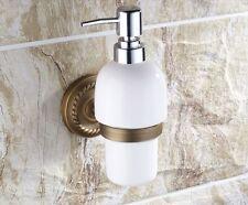 wall mount brass shower shampoo pump soap dispenser holder bathroom washroom