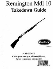 Remington  Model  10  Takedown Disassembly Assembly Guide Radocy  NEW