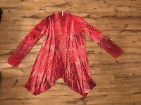 Xhiliration Beautiful MultiColor Long Sleeve Cardigan Size XLarge ~ EUC ~ *WOW*