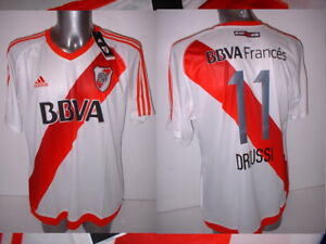 River Plate Home XL Alario Driussi Shirt Jersey Football Soccer BNWT Argentina
