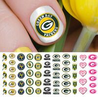Green Bay Packers Football Nail Art Decals - Salon Quality!