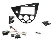 Ford Focus Mk1 98-05 doble DIN STEREO Facia Kit de Adaptador y Tallo Adaptador LHD