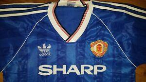 Manchester United Away Shirt 1988 Retro Sharp Large*