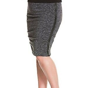 Lane Bryant Faux Leather Striped Ruched Skirt - Plus Size 28