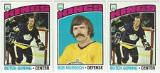 11 1976-77 TOPPS HOCKEY LOS ANGELES KINGS CARDS (GORING/MURDOCH+++)