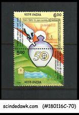 INDIA - 1998 GOLDEN JUBILEE OF NATIONAL SAVINGS ORGANIZATION SE-TENANT X 2 MNH