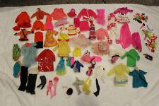 Lot Of Vintage Mattel Barbie Doll Clothes w/ accessories shoes, hangers, purses