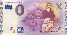 50 MONT ST MICHEL MÈRE POULARD BILLET 0 EURO SOUVENIR 2015 BANKNOTE EURO SCHEIN