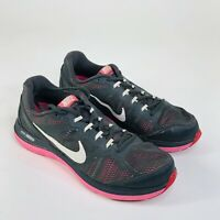 Nike Dual Fusion Run 3 Womens Size 9.5 Black Pink Running Athletic Shoes 653594