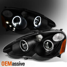Fit 02-04 Acura RSX Integra DC5 Black Halo Projector LED Headlights Replacement