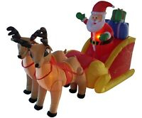 Christmas Air Blown Inflatable Yard Party Decoration Santa Claus Sleigh Reindeer