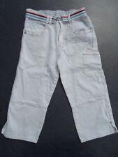Liegelind Capri Jeans Gr. 140 in wollweiß mit Gürtel