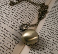Vintage Style Round Pocket Watch Necklace Pendant & Chain Ball Sphere Snitch