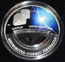 Fiji 10 Dollars Silbermünze Meteorit - Brenham 2012
