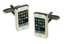 Novelty iPhone Cufflinks in Onyx Art of London Presentation Gift Box