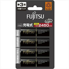 FUJITSU HR-3UTHC 4-Pack 2450mAh Ni-MH AA-size Rechargeable Battery eneloop