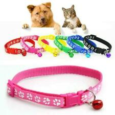Cute Paw Printed Adjustable Kitten Collar Bell Tie Cat Pet Puppy Colourful Nylon