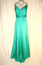 Perfect Weddings Emerald Green Empire Waist Formal Dress Gown Size M/L