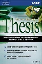 How to Write a Thesis (How to Write a Thesis)-ExLibrary