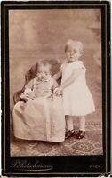 CDV photo Niedliche kleine Kinder - Wien 1880er
